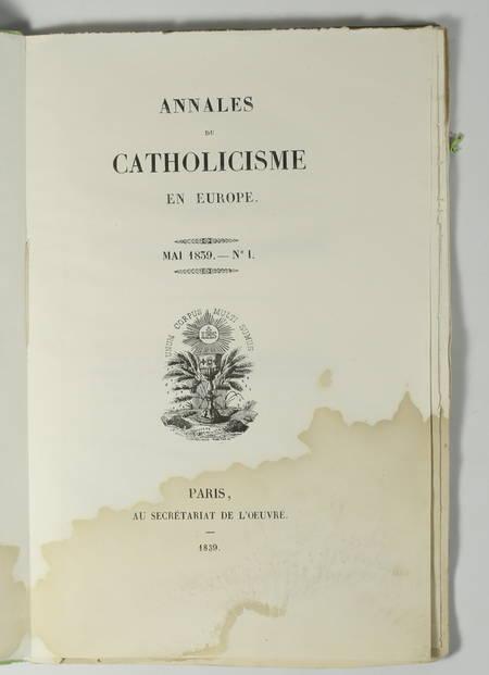 Annales du catholicisme en Europe - 1839-1841 - 7 n° - collection complète - Photo 2 - livre rare