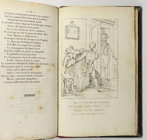 Alexis PIRON - Oeuvres badines - 1834 - Portrait + 8 planches - Photo 4 - livre romantique