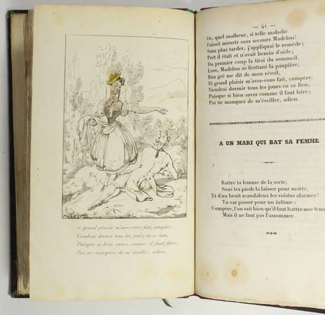 Alexis PIRON - Oeuvres badines - 1834 - Portrait + 8 planches - Photo 5 - livre romantique