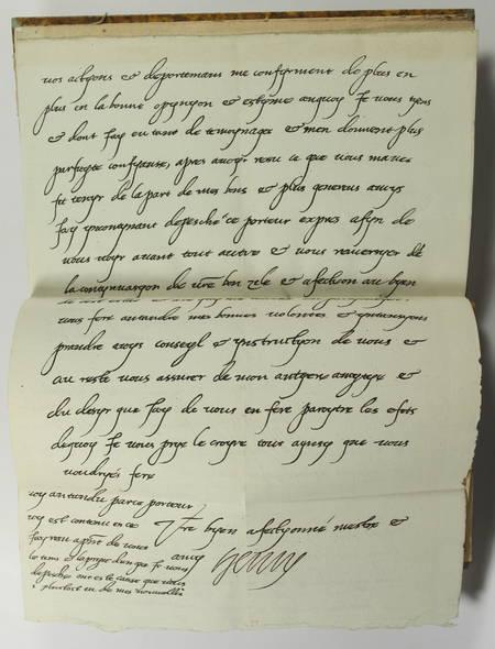 Correspondance de Henri IV avec Roussat, maire de Langres - 1816 - Photo 4 - livre de bibliophilie
