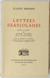 BERNARD (Claude). Lettres beaujolaises