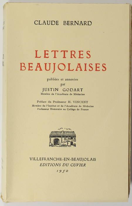 Claude BERNARD - Lettres beaujolaises - 1950 - 1/100 Lana - Photo 0 - livre d'occasion
