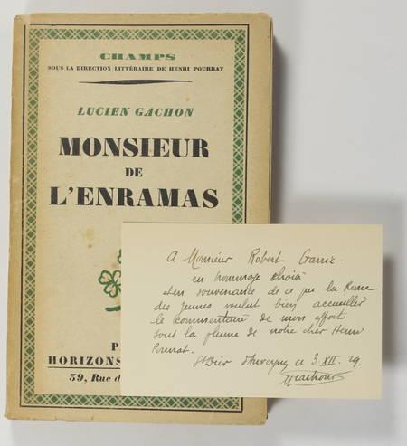 GACHON (Lucien). Monsieur de l'Enramas