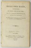 COLLIN d HARLEVILLE - Malice pour malice - AN II (1794) Signé par l auteur - EO - Photo 1 - livre ancien