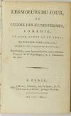 COLLIN d HARLEVILLE - Les moeurs du jour ou l école des jeunes femmes - An VIII - Photo 0, livre ancien du XIXe siècle
