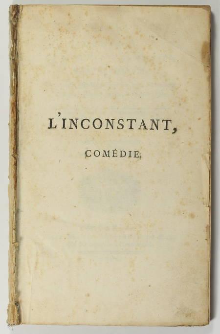 [Théâtre] COLLIN d'HARLEVILLE - L'inconstant - 1789 - Photo 1 - livre ancien
