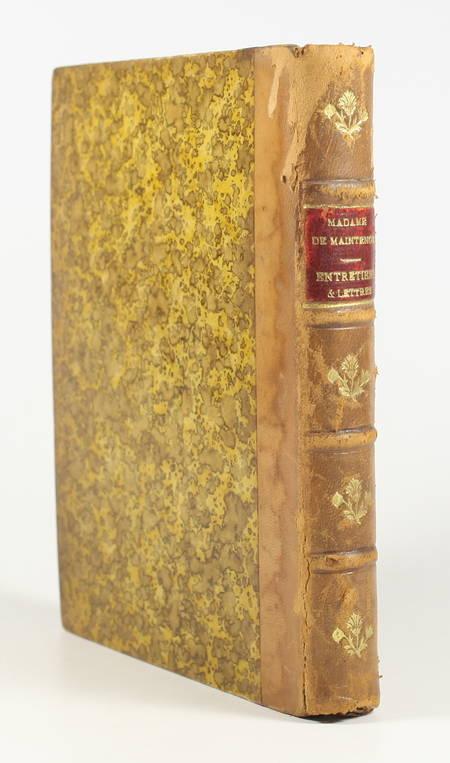MAINTENON - Choix d'entretiens et de lettres - 1876 - Portrait - Photo 1 - livre d'occasion