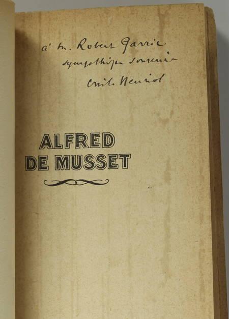 Emile HENRIOT - Alfred de Musset - 1928 - Envoi de l'auteur - Photo 0 - livre rare
