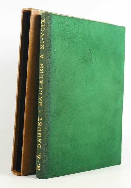 Marie-Antoinette DAGUET - Ballades à mi-voix - 1934 - Eau-forte de Roger Grillon - Photo 0 - livre du XXe siècle