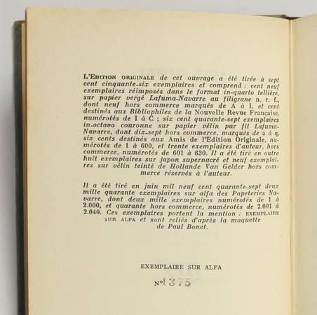 SAINT-EXUPERY - Vol de nuit - 1947 - Paul Bonnet - Photo 1 - livre du XXe siècle