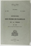 BOYENVAL (René), DEBRIE (René) et VAILLANT (René). Répertoire des noms de famille de la Somme en 1849