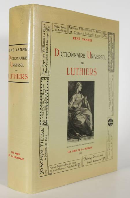VANNES (René). Dictionnaire universel des luthiers