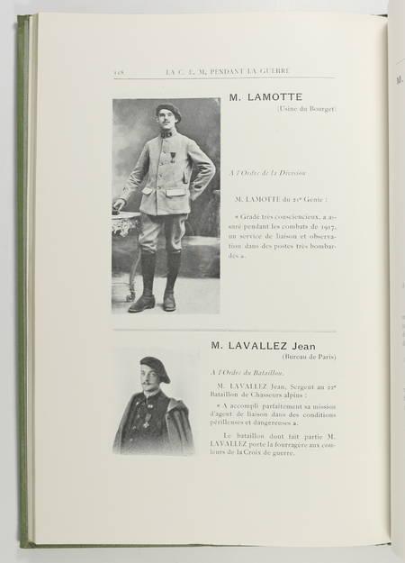 . Compagnie Electro-Mécanique. Livre d'or, 1914-1918, livre rare du XXe siècle