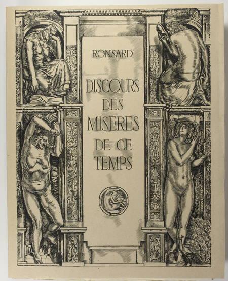 RONSARD - Discours des misères de ce temps - 1930 - Burins de Decaris - Photo 1 - livre du XXe siècle