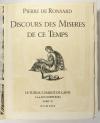 RONSARD - Discours des misères de ce temps - 1930 - Burins de Decaris - Photo 4, livre rare du XXe siècle
