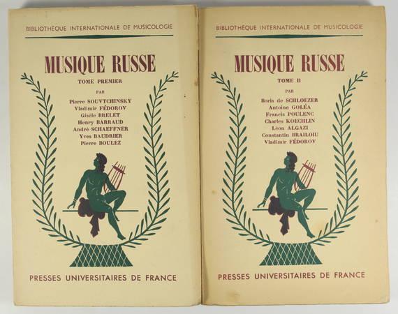 [Russie] SOUVTCHINSKY et alii - Musique russe - 2 volumes - 1953 - Photo 0 - livre rare