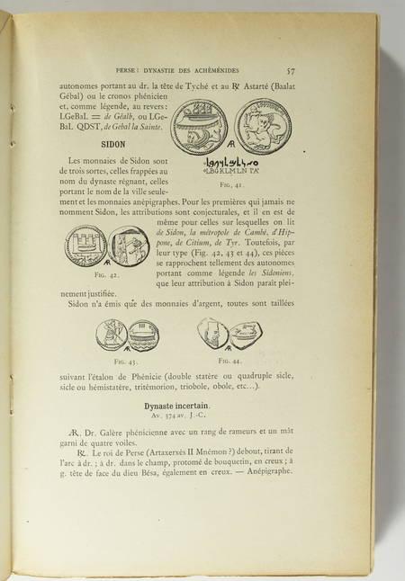 Photo livre n°2. MORGAN J de. Manuel de numismatique orientale de