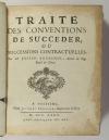 BOUCHEUL - Traité des conventions de succéder - Poitiers, 1727 - In-4 - Photo 1 - livre ancien