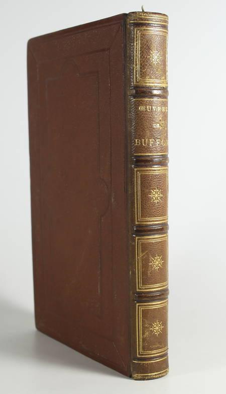 BUFFON. Oeuvres choisies de Buffon, précédées d'une notice sur sa vie et ses ouvrages par D. Saucié, livre rare du XIXe siècle