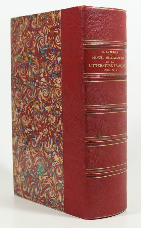 LANSON - Manuel bibliographique de la littérature française 1500-1900 (1914) - Photo 0 - livre moderne