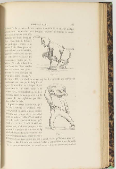 WRIGHT Histoire de la caricature et du grotesque 1875 - Reliure signée maroquin - Photo 2 - livre d'occasion