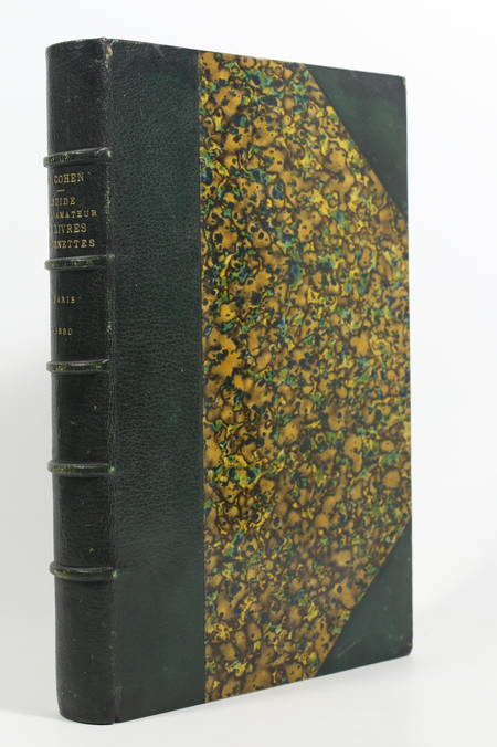 COHEN - Guide de l'amateur de livres à gravures au XVIIIe - 1880 - Maroquin vert - Photo 0 - livre de bibliophilie