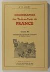 JOANY (Dr. R.). Nomenclature des timbres-poste de France. Tome IV : Timbres postes d'usage courant. IIIe période (1900-31)
