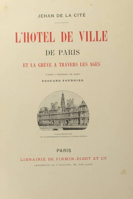 Jehan de La Cité - L hôtel de ville de Paris et la grève - (vers 1895) - Photo 2 - livre du XIXe siècle