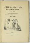 QUERARD - Les auteurs déguisés de la littérature française au XIXe - 1845 - Photo 1 - livre rare