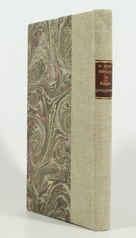 BURR-REYNAUD - Poèmes quisqueyens - Epoque indienne - 1926 - Photo 0 - livre d'occasion