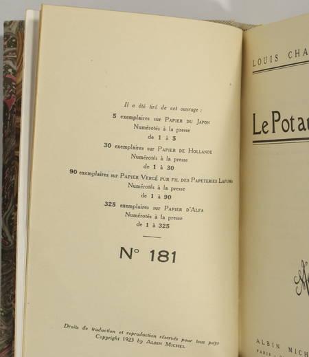 CHADOURNE - Le pot au noir - 1923 - Relié - Numéroté sur Alfa - Photo 0 - livre d'occasion