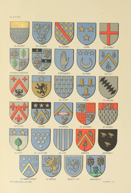 SOULTRAIT - Armorial du Bourbonnais - 1890 - 2 volumes - 32 planches - Photo 2 - livre rare