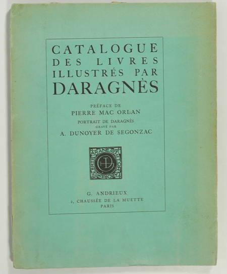 Catalogue des livres illustrés par Daragnès - 1924 - Eau-forte - Dédicace - Photo 1 - livre d occasion