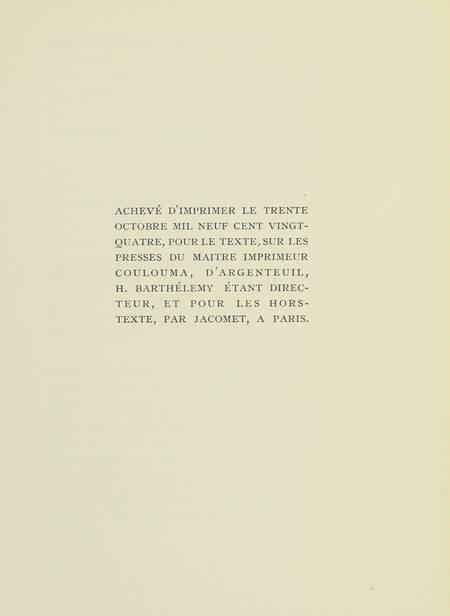 Catalogue des livres illustrés par Daragnès - 1924 - Eau-forte - Dédicace - Photo 3 - livre d occasion