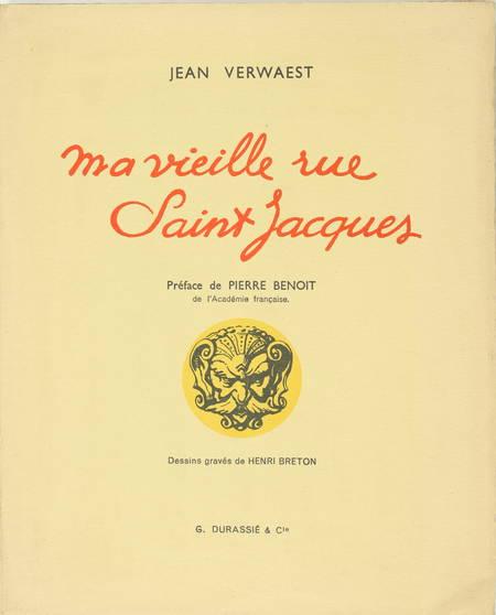 VERWAEST - Ma vieille rue Saint Jacques - 1953 Illustré par Henri Breton - Envoi - Photo 1 - livre moderne