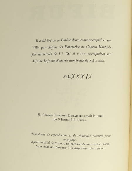 [Surréalisme, Revue] Bifur. N° 6 - 1930 - Photographies - Photo 0 - livre du XXe siècle