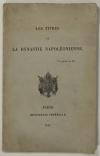 . Les titres de la dynastie napoléonienne