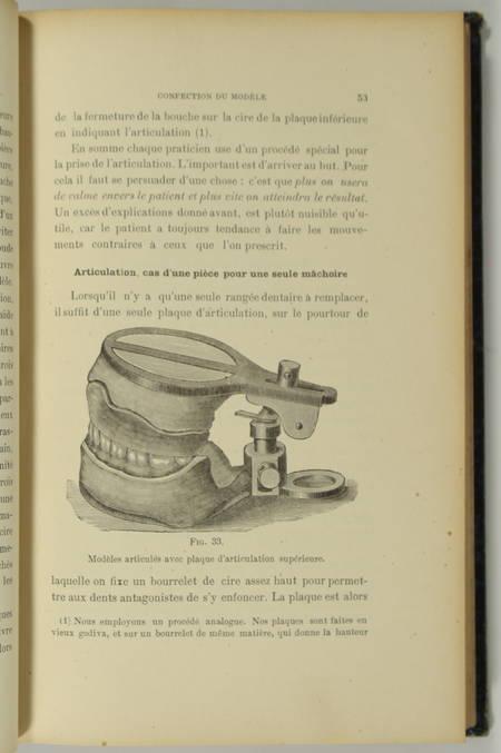 DETZNER (Philippe) [Traduit par THESEE (Dr., de Brest) et SCHUTZ (Ch., de Lille)]. Traité pratique de prothèse dentaire