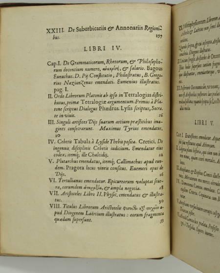 [Philologie] Samuel Petit - Miscellaneorum libri novem - 1630 - Photo 2, livre ancien du XVIIe siècle