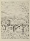 [Métro] Paris - Cinquantenaire du métropolitain - 1951 - Eau-forte de Jacquemin - Photo 0 - livre de collection