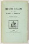 LECLERC - La juridiction consulaire de paris pendant la Révolution - 1909 - Photo 0, livre rare du XXe siècle