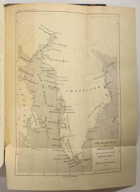 HAYES - La terre de désolation, excursion d été au Groënland - 1874 - Photo 3, livre rare du XIXe siècle