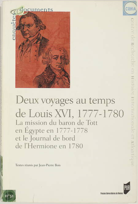 Baron de Tott en Egypte 1777-1778 - Journal de bord de l'Hermione en 1780 - 2005 - Photo 0 - livre moderne