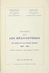 Colloque sur les hélicoptères - 80 années de vol vertical français - 1907-1987 - Photo 0, livre rare du XXe siècle