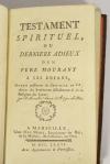 AIGUEBELLES - Testament spirituel, derniers adieux d un père - Marseille 1776 - Photo 1 - livre de bibliophilie