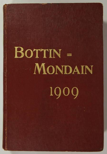 . Bottin mondain. 1909