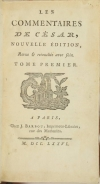 Les commentaires de César - 1776 - 2 volumes - Photo 1, livre ancien du XVIIIe siècle