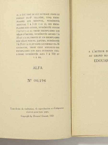 Gilbert de VOISINS - L'absence et le retour - 1928 - EO sur Alfa - Photo 0, livre rare du XXe siècle