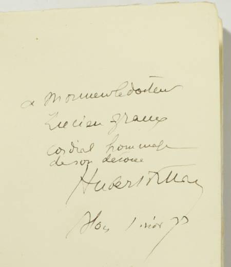 HUBERT-FILLAY. Contes des Guernipis. Nouvelles du pays de Sologne, livre rare du XXe siècle