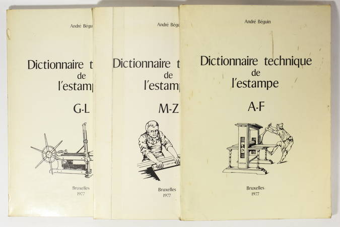 BEGUIN (Albert ). Dictionnaire technique de l'estampe